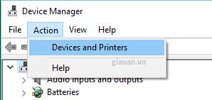 Tùy chọn thiết bị và máy in