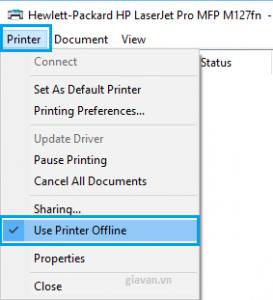 tùy chọn máy in