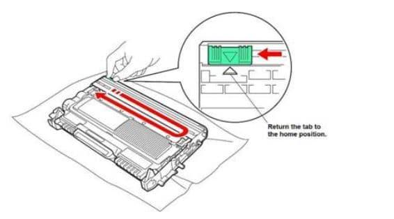 Làm sạch ron của hộp mực máy photo