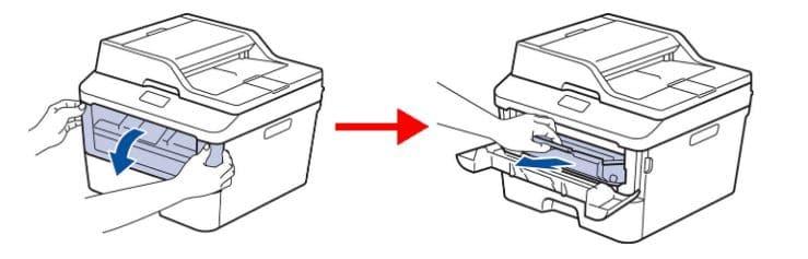 Lấy bộ phân trống của hộp mực ra khỏi máy