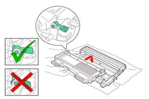 Lắp trống và hộp mực của máy